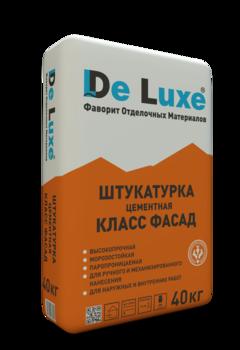 Штукатурка цементная De Luxe КЛАСС ФАСАД, 40 кг