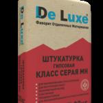 Штукатурка гипсовая De Luxe  СЕРАЯ МН, 30кг