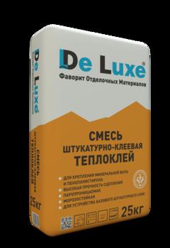 Штукатурно-клеевая смесь De Luxe ТЕПЛОКЛЕЙ, 25кг