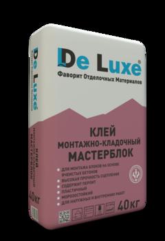 Клей монтажный De Luxe МАСТЕРБЛОК, 25кг
