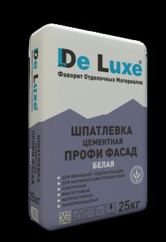 Шпатлевка цементная De Luxe ПРОФИ ФАСАД, 25кг